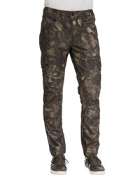 J Brand Jeans Trooper Camo Cargo Twill Pants Tumbled Newberry Multi
