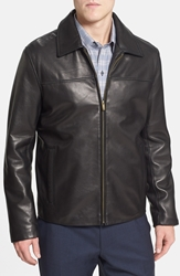 Cole Haan Lambskin Leather Jacket Online Only Black