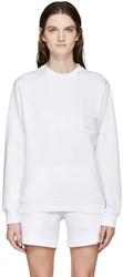 Gosha Rubchinskiy White Zippered Pullover