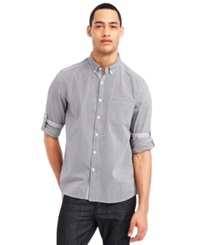 Kenneth Cole Reaction Micro Check Shirt Black Combo