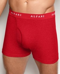 Alfani Men's 4 Pack. Cotton Boxer Briefs Only At Macy's Red Black Grey