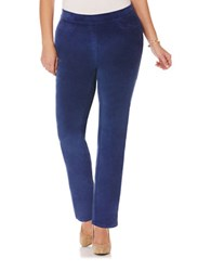 Rafaella Plus Plus Solid Ankle Pants Blue Thistle