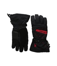 Spyder Overweb Gore Tex Ski Glove Black Red Over Mits Gloves