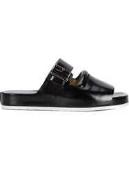Carven Double Strap Mules Black