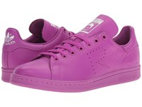 Raf Simons Stan Smith Flat Pink Footwear White Flat Pink Lace Up Casual Shoes Purple