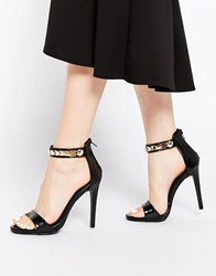Ax Paris Leona Barely There Heeled Sandals Black