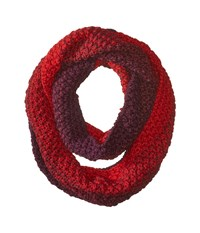 Michael Stars Seeded Ombre Eternity Heart Scarves Red