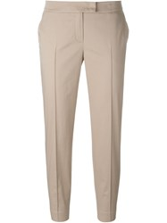 Akris Cropped Tailored Trousers Nude And Neutrals