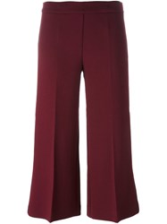 P.A.R.O.S.H. 'Laki' Cropped Trousers Red