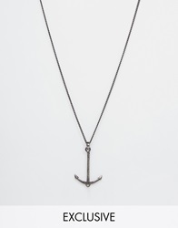 Simon Carter Antiqued Anchor Necklace Exclusive To Asos Silver