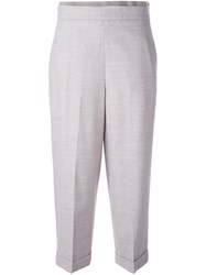 Fabiana Filippi Tapered Cropped Trousers Grey
