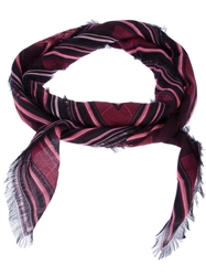 Balmain Printed Scarf Pink And Purple