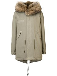 Mr And Mrs Italy Collar Detail Parka Coat Green