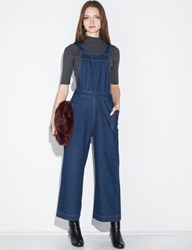 Pixie Market Dark Denim Wide Leg Jumpsuit