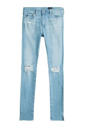 Ag Adriano Goldschmied Distressed Skinny Jeans Gr. 30