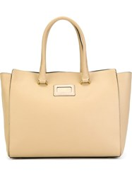 Hogan Front Logo Tote Nude And Neutrals