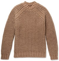 Tod's Alpaca Silk And Merino Wool Blend Sweater Camel
