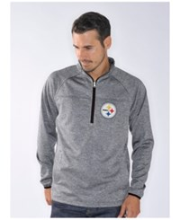 G3 Sports Men's Pittsburgh Steelers Franchise Quarter Zip Pullover Gray
