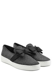 Michael Kors Collection Slip On Sneakers With Grosgrain Bow Black