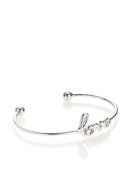 Sarah Chloe Silver Love Script Bangle