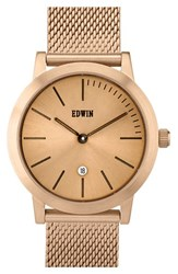Women's Edwin 'Kenny' Metallic Strap Watch 32Mm