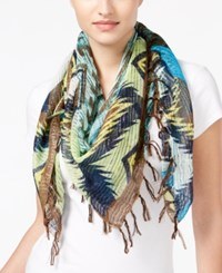 Collection Xiix Aztec Square Scarf Chopped Dill