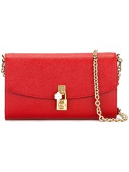 Dolce And Gabbana 'Dolce' Crossbody Bag Red