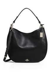 Coach Classic Leather Hobo Black
