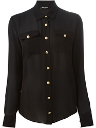Balmain Military Shirt Black