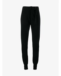 Ann Demeulemeester Lomo Wool And Cashmere Trousers Black White