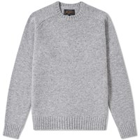 Beams Plus 5 Gauge Crew Knit Grey