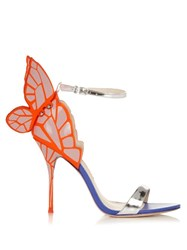 Sophia Webster Chiara Butterfly Wing Sandals Silver Multi