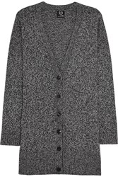 Mcq By Alexander Mcqueen Oversized Wool And Cashmere Blend Cardigan Gray