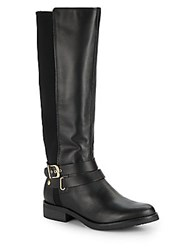 Kenneth Cole Reaction Equestrian Leather Blend Boots Black