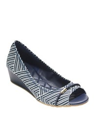 Cole Haan Tali Wedge Pumps Navy Blue