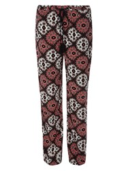 Dorothy Perkins Folk Tile Tassel Palazzo Trousers Coral