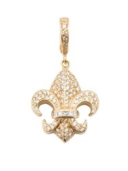 Loree Rodkin Small Fleur De Lis Diamond Pendant Metallic