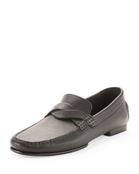 Tom Ford Grant Twist Driver Leather Loafer Brown