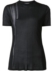 Paco Rabanne Sheer Crew Neck T Shirt Black