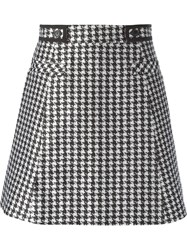 Viktor And Rolf Houndstooth Print A Line Skirt Black
