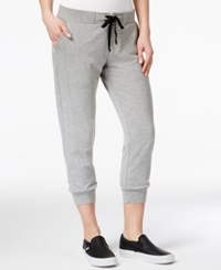 Material Girl Active Juniors' Cropped Sweatpants Only At Macy's Heather Platinum