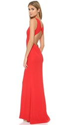 Rachel Zoe June Cutout Gown Red