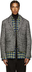 Haider Ackermann Black And White Tweed Jacket