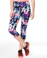 Material Girl Active Juniors' Printed Cropped Leggings Only At Macy's Brushed Leopard