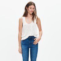 Madewell Anthem Scoop Tank Top In Encino Stripe