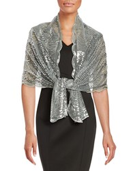 Cejon Mesh And Sequin Scarf Silver
