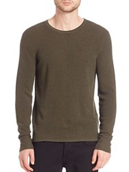 Rag And Bone Garrett Merino Wool Sweater Army Green