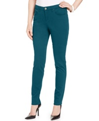 Style And Co. Skinny Leg Curvy Fit Jeans Twilight Teal