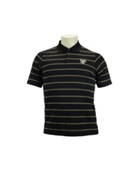 Antigua Men's Pittsburgh Penguins Deluxe Polo Shirt Black Gold White