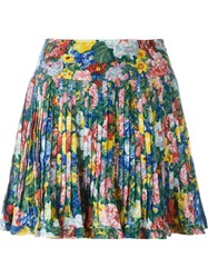 Kenzo Vintage Pleated Floral Skirt Multicolour